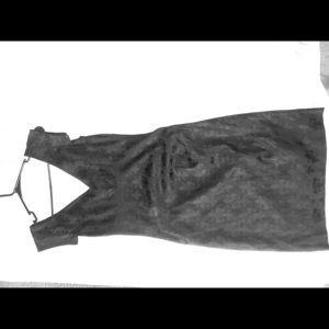 Nicole Miller Black Fleur de Liz Dress size 8
